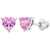 925 Sterling Silver Heart Baby Earrings Screw Back Girls Toddlers CZ