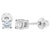 925 Sterling Silver CZ Tiny Round Screw Back Earrings for Toddlers 3mm