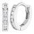 925 Sterling Silver Clear CZ Small Hoop Earrings for Girls Kids Infants 0.39""