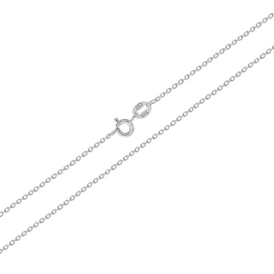 "925 Sterling Silver 16"" Plain Unisex Cross Necklace for Kids Pendant & Chain - Boys & Girls"