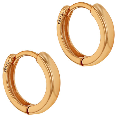 925 Sterling Silver Stylish Small Hoop Huggie Earrings for Women 0.51""