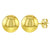 14k Yellow Gold High Polish Ball Earrings Traditional Stud Teen Women