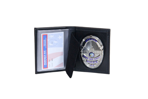 Miami Dade Schools Police Department Mini Badge ID holder and Wallet (110)