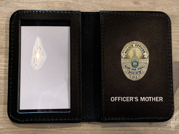 Miami Dade Schools Police Department Mini Badge ID holder and Wallet (100)