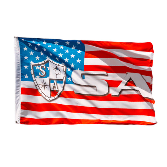 SA CO. FLAG | AMERICAN FLAG | SHIELD SA LOGO