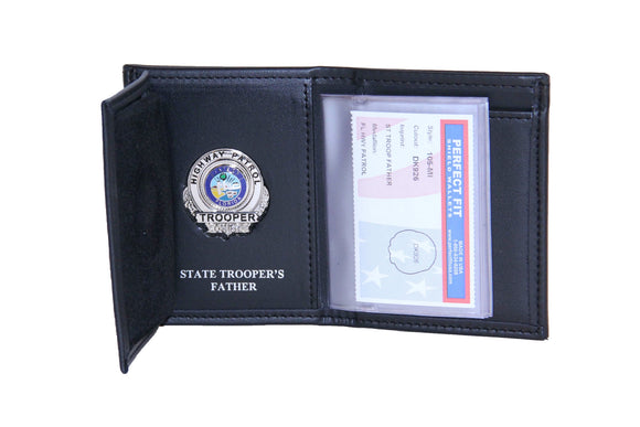 Florida Highway Patrol Recessed Badge Wallet with Credit Card Slot and ID Window (105)