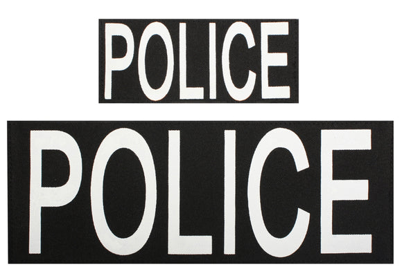 Police Patch Set of Two w/ Hook Back