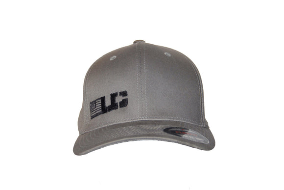 UC Flexfit Gray Adult Wool Blend Cap