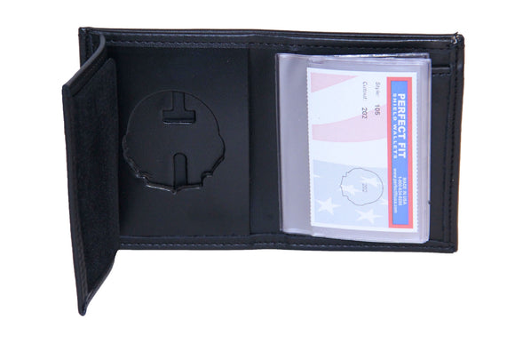 Florida Highway Patrol Recessed Badge Wallet with Credit Card Slots and ID Window (105)