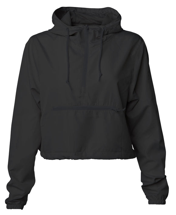 Women's Lightweight Pullover Crop Windbreaker