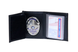 Miami Dade Schools Police Department Recessed Badge Wallet with Credit Card Slot and ID Window (105)