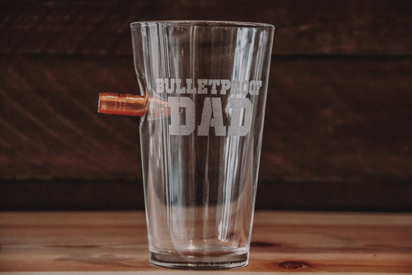 Benshot Bulletproof Dad Pint Glass