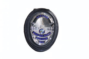 Miami Dade Schools Police Department Pocket Chain Recessed Badge Holder With Belt Clip (716pc)