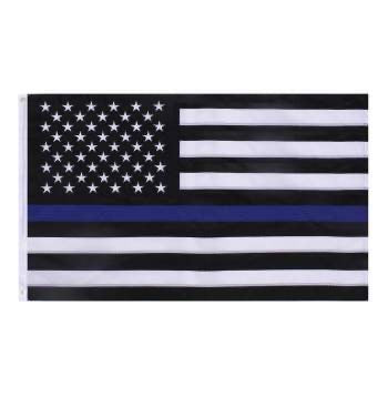 Deluxe Thin Blue Line Flag