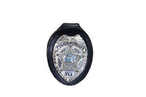 Miami Dade Police Department Pocket Chain Recessed Badge Holder With Belt Clip (716pc)