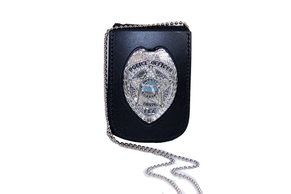 Miami Dade Police Department Recessed Neck Badge and ID Holder