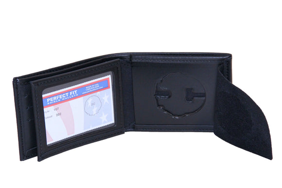 Florida Highway Patrol Bi fold Wallet with Credit Card Slots and ID Window (107)
