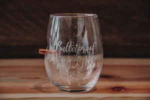 Benshot Bulletproof Mom Wine Glass