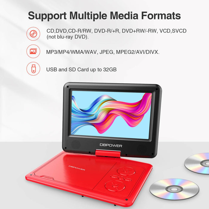 "DBPOWER 11.5"" Portable DVD Player (5h Built-in Rechargeable Battery) - DBPOWER"