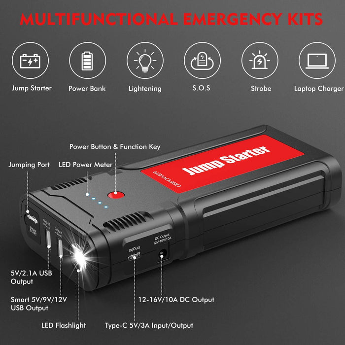 DBPOWER 2500A 21800mAh Portable Car Jump Starter - DBPOWER