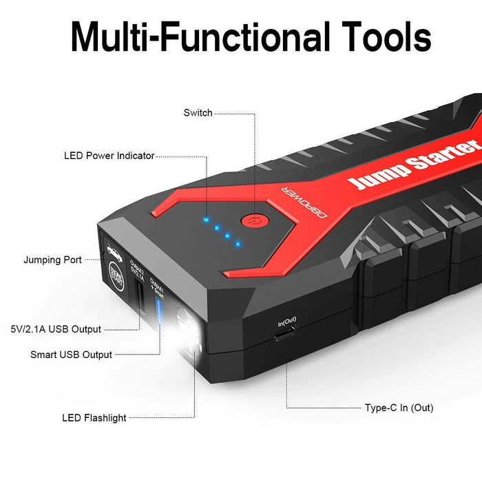 DBPOWER G16 2000A 20800mAh Portable Car Jump Starter - DBPOWER