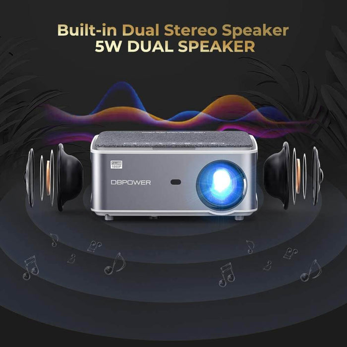 DBPOWER RD828 Native 1080P WiFi Projector - DBPOWER