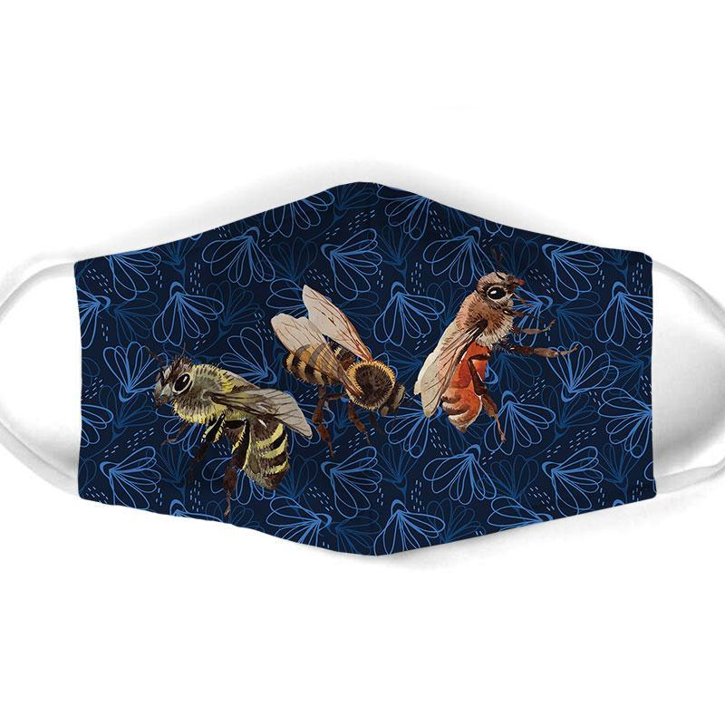 Bee  All Over Prints Cloth Mask 26
