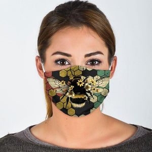 Bee  All Over Prints Cloth Mask 2