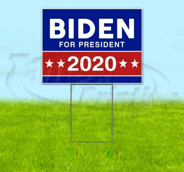 BIDEN FOR PRESIDENT 2020 18x24 Yard Sign Corrugated Plastic Lawn USA ELECTION