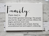 Family Definition - Family Canvas Wall Decor - Canvas