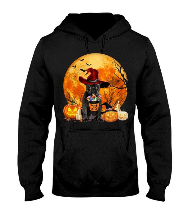 Trick Halloween - Dog - French Bulldog Hooded Sweatshirt