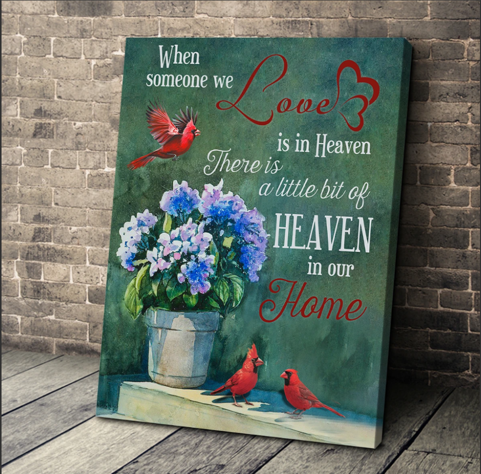 Cardinal - When someone we love - Gift for Husband/Wife, for Boy friend/Girl friend/Parents - Anniversary, Birthday, Valentine, Christmas gift
