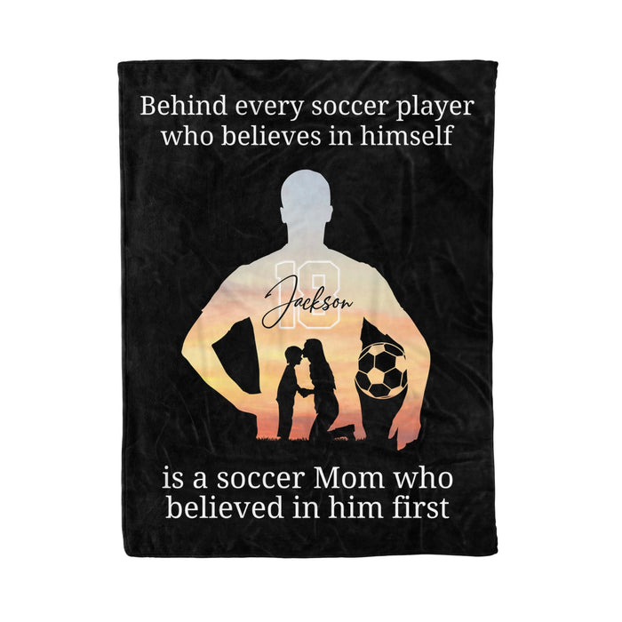 Behind every Soccer player- Custom blanket