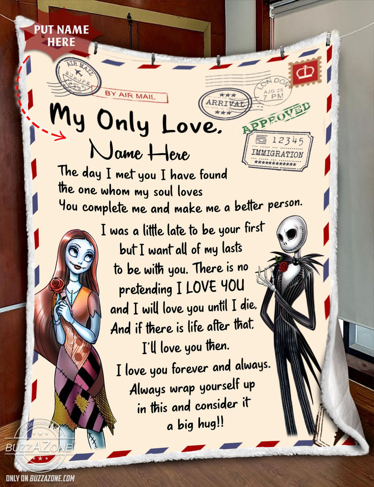 Fleece Blanket - Nightmare my only love I will love you until I die