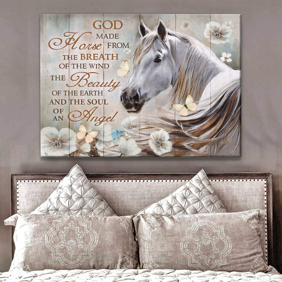 Gorgeous Horse Canvas -  God made Horse Wall Art Canvas