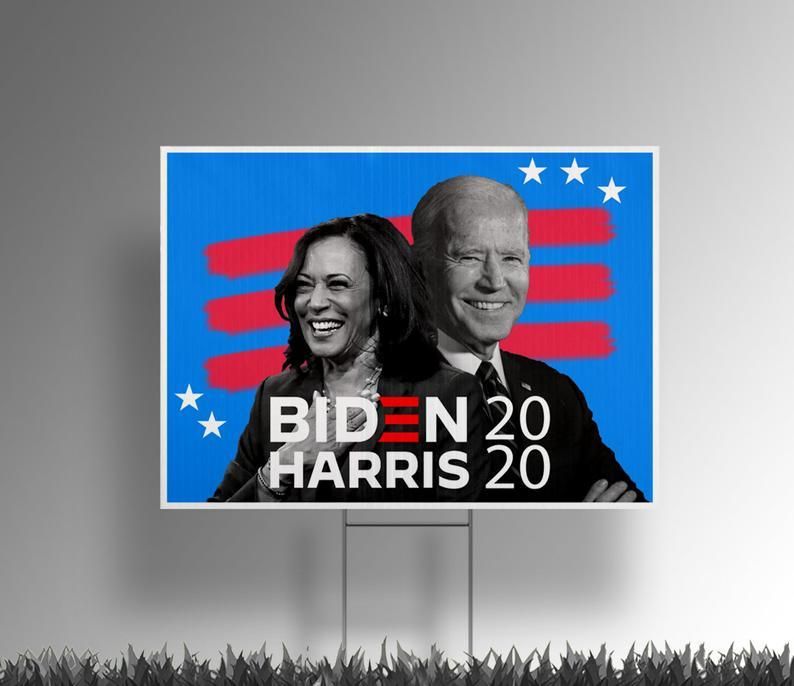 Biden and Harris Black and White pictures 2020 yard sign - 18