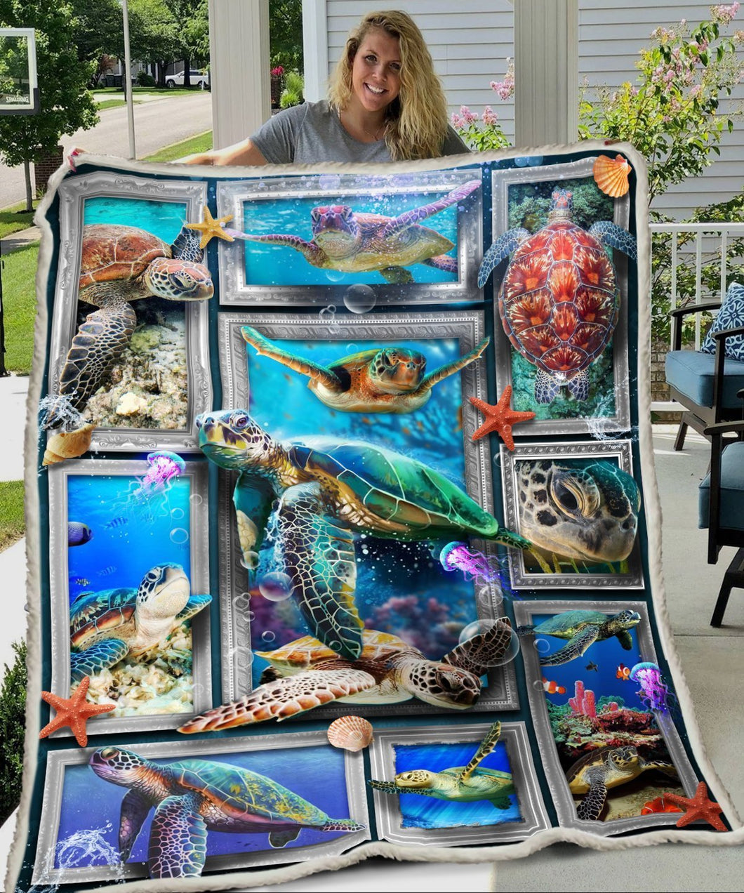 3D Huge Turtle Blanket