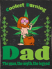 Coolest Burning Dad - The Man The Myth The Legend - Woven Blankets For Hippie And Stoner Marijuana - Father'S Day Gift Idea - Blanket