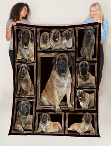 Dog Blanket 3D English Mastiff Dog Fleece Blanket