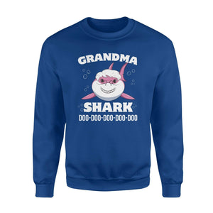 Grandma Shark 01 Fleece Sweatshirt - Family Presents