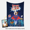 Custom Dog Blanket - Personalized Creative Gift Idea - Superhero English Bull For Dog Lover - Fleece Blanket