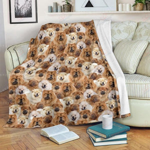 Chow-Chow Sherpa Fleece Blanket