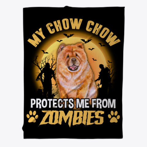 Halloween Chow Chow Lover Gift - Fleece Blanket