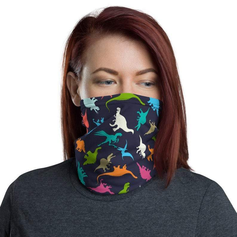 Kids Dinosaurs Face Gaiter Cover