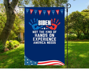 AntiBiden Funny Hidin From Biden Anti Creepy Joe Hands On - Garden Flag