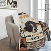Dog Blanket A House Is Never Lonely Where A Loving Dog Waits Bernese Mountain Dog Fleece Blanket