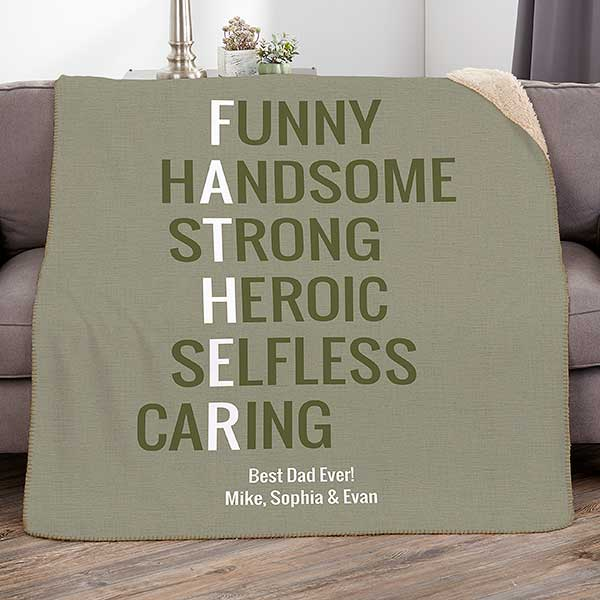 Father Acronym Personalized - Blanket