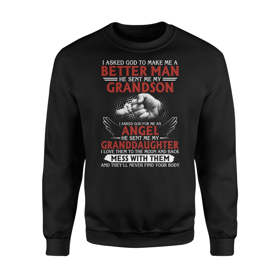 God sent me my grandson - Standard Fleece Sweatshirt - Family Presents