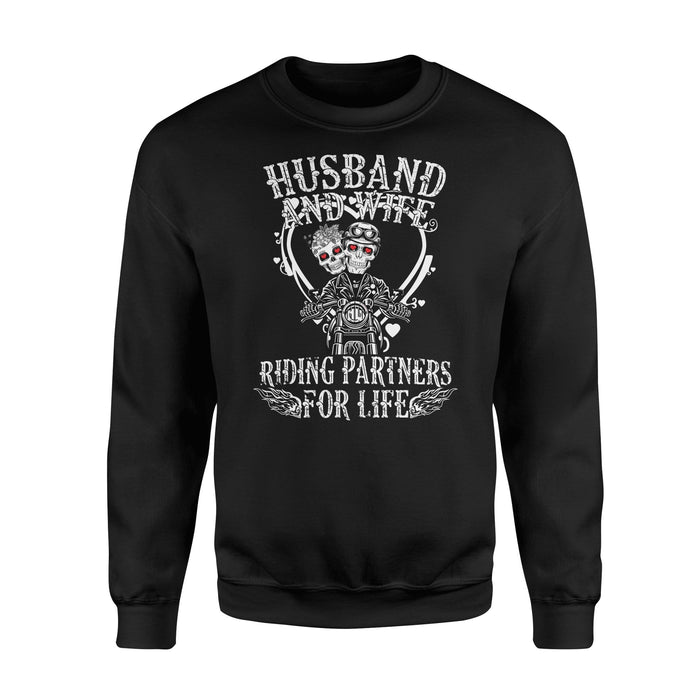 Husband and wife riding partner - Standard Fleece Sweatshirt - Family Presents