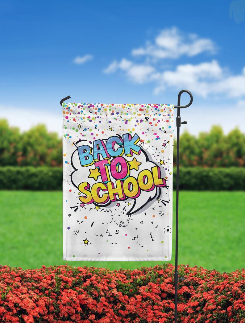 Back to School Garden Flag - Back to School Outdoor Decor - Back to School Yard Sign - School Decor - School banner - First Day of School